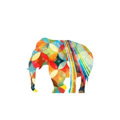 Colorful elephant icon on white background