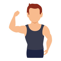 athletic man character icon vector illustration design