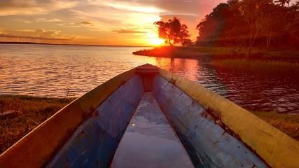 Canoa, Por do Sol