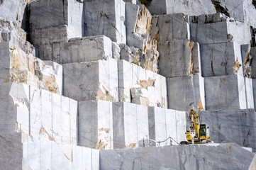Marble quarry in Carrara. Italy Wall mural