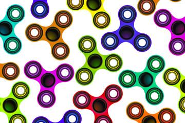 Fidget Spinner Focus Toy Colorful Background Illustration