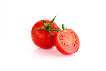 Fresh red tomato isolated on white background