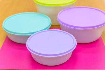 Modern plastic food containers