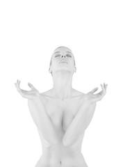 elegance sensual woman fine art portrait with body figure