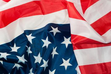 USA flag background.