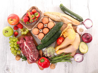 variety of raw food