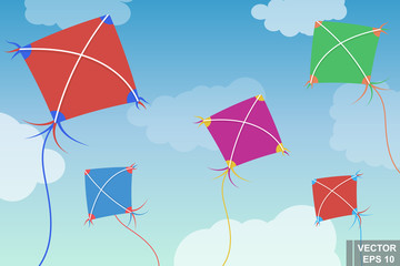 Kite. Entertainment on the street. Children's. Good weather.