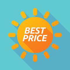 Long shadow Sun with    the text BEST PRICE