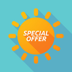Long shadow Sun with    the text SPECIAL OFFER