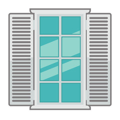 Vector window for interior and exterior design use.