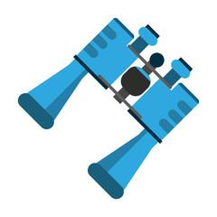 binoculars topview icon image vector illustration design