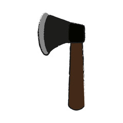 axe tool icon image vector illustration design