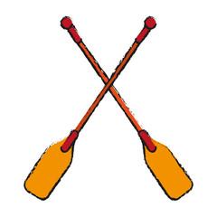 boat oars  icon image vector illustration design