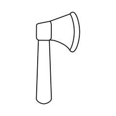axe tool icon image vector illustration design  single black line