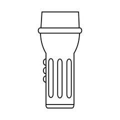 flashlight camping icon image vector illustration design  single black line