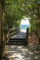 Public beach access onto Bonita beach in Florida