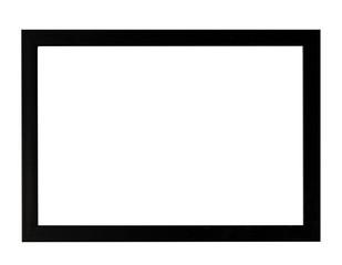 horizontal blank photo frame isolate on white background