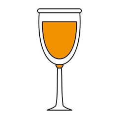 Refreshing liquor cocktail illustration icon vector graphic design flat