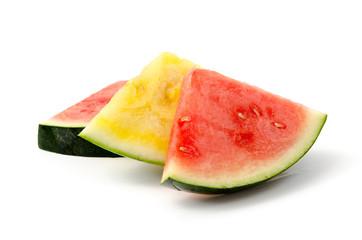 Rote und gelbe Wassermelone