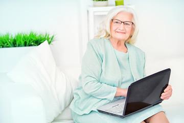 modern senior woman