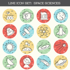 Space Science icon set