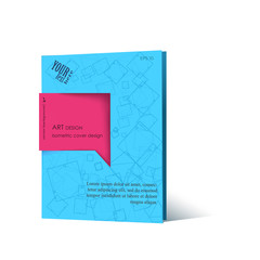 Business Blank blue. Cover book mock-up