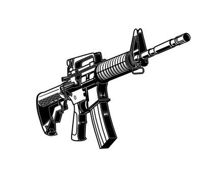 Ar-15, Rifle, Assault Rifle, M-16, Armalite, Machine Gun, Gun, Rifle, Weapon
