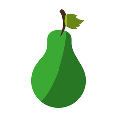 Sweet fruit pear icon vector illustration design graphic shadow