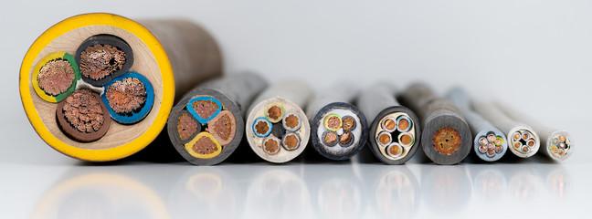 Elektrokabel bzw. Stromkabel zum Stromanschluss