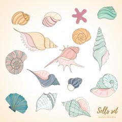 Seashell paradise holiday marine set
