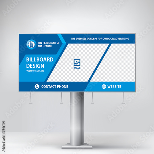 Billboard Design To Advertise A Construction Company Template For Placement Of Photos And