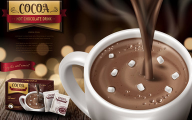 hot chocolate drink ad