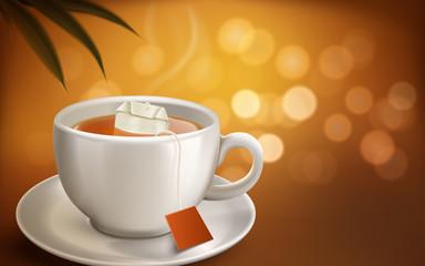 hot tea illustration