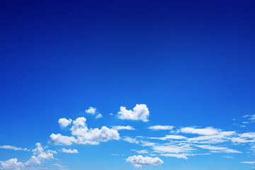 beautiful white clouds on blue sky for background and design