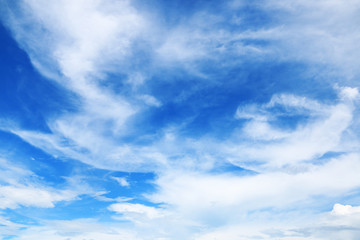 beautiful soft white clouds on blue sky for background and design