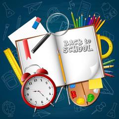 Cartoon stationery and school supplies