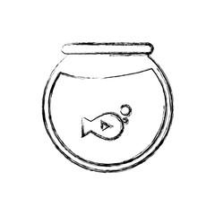 fishbowl icon over white background vector illustration