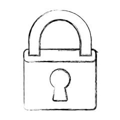 padlock icon over white background vector illustration