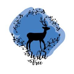branches around of deer wild animal