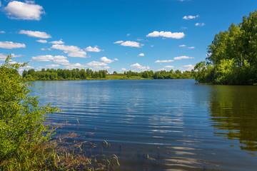 Beautiful water summer landscape.
