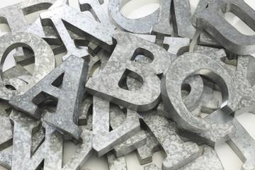 金属製のアルファベット