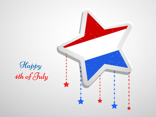 Illustrtion of U.S.A Independence day background