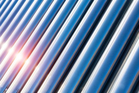 solar water heater closeup