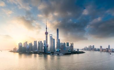 Fotobehang - shanghai skyline panorama