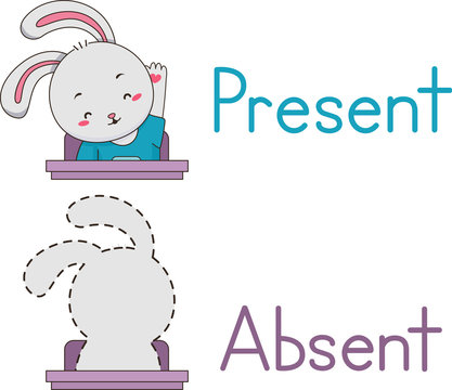 Present Absent Rabbit Mascot Student