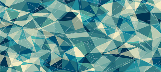 Flat horizontal triangle banner for web design