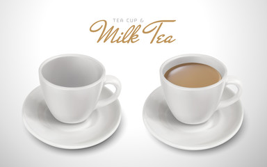 milk tea and tableware