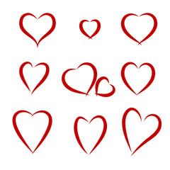 Hearts drawing set