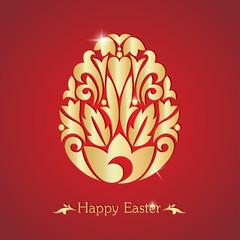 Happy easter. Easter egg. Vector illustration.