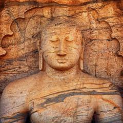 Polonnaruwa Gal Vihara Buddhist Statue. Sri Lanka
